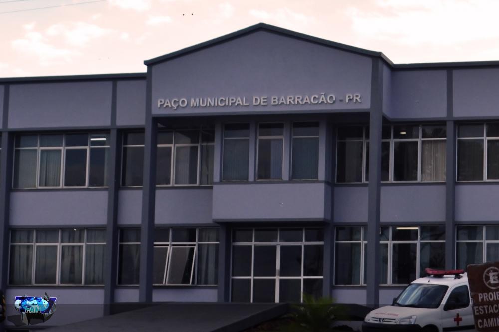 Faxada da prefeitura municipal de Barracão/PR/Foto:Marcos Prudente