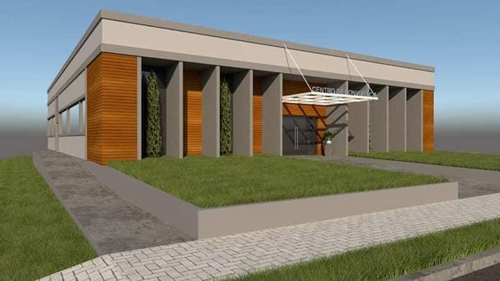 Maquete do novo Centro de Convivência dos Idosos de Barracão/Foto:Marcos Prudente