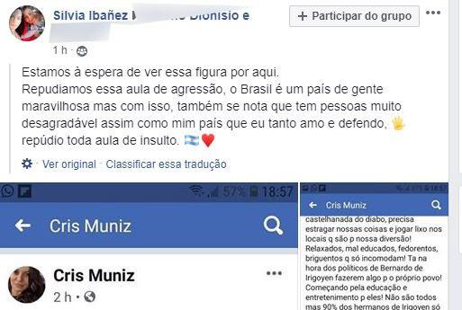 Cris Muniz volta a gerar polêmica após chamar argentinos de fedorentos e outros adjetivos