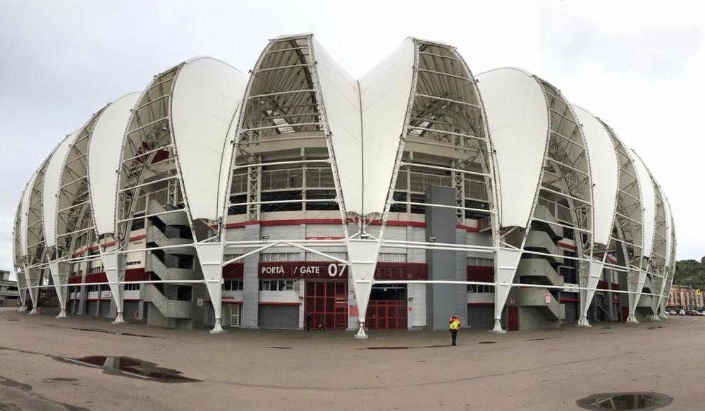 Inter fez treino fechado no Beira-Rio — Foto: Eduardo Deconto / GloboEsporte.com