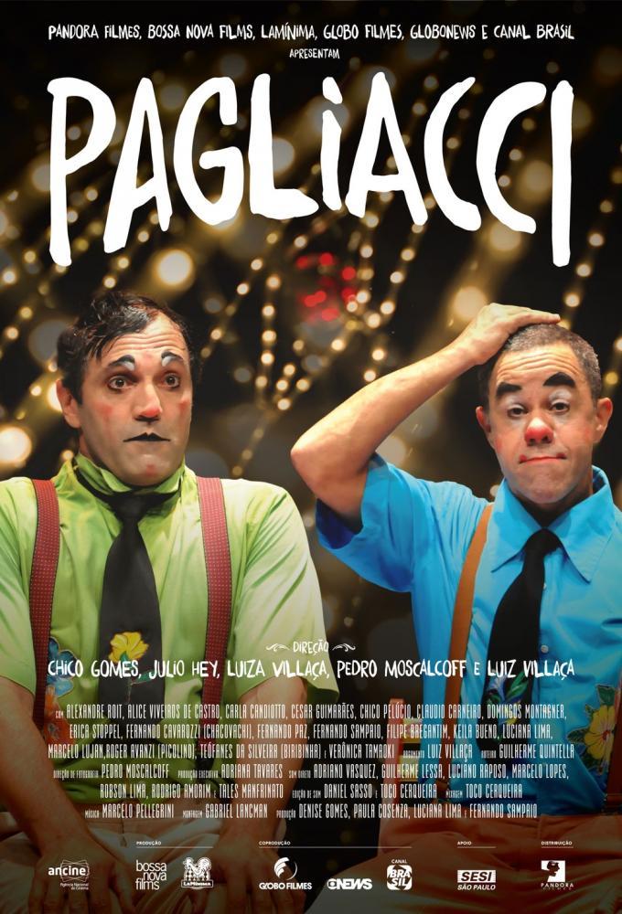 Cartaz do documentáro 'Pagliacci', sobre Domingos Montagner, Fernando Sampaio e a companhia La Mínimia — Foto: Divulgação
