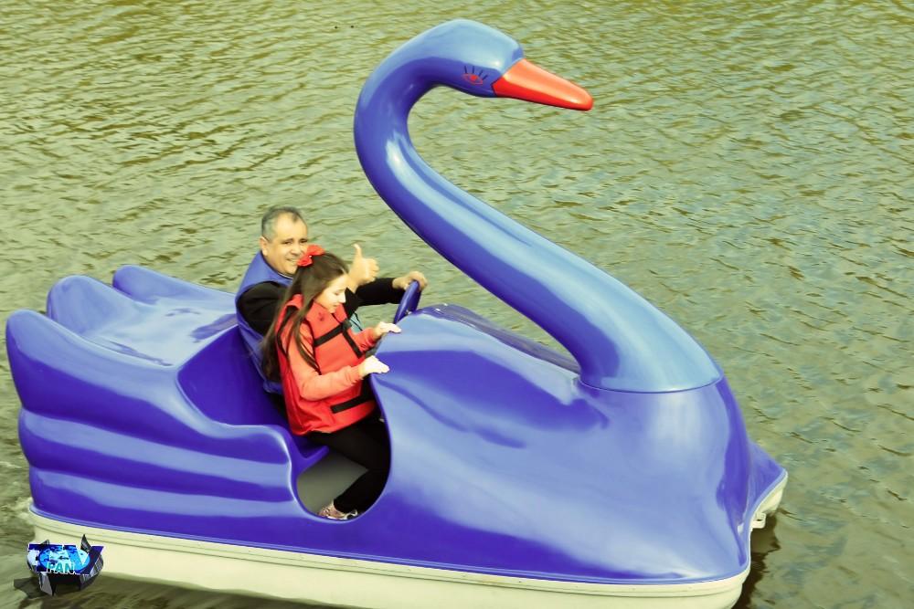 Dionísio - Pedalinhos foram inaugurados no Lago Internacional com promessa de futebol de sabão