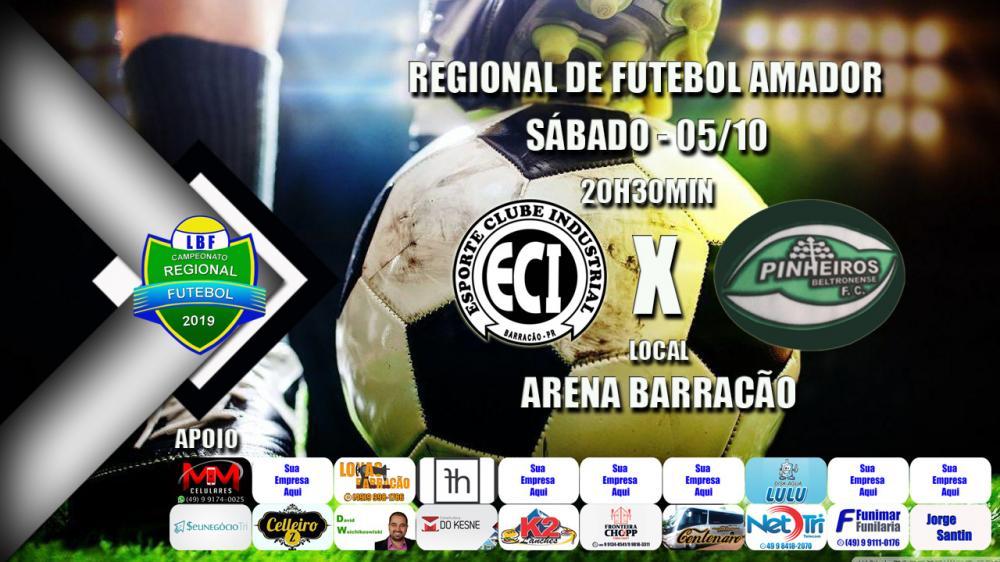 Industrial vai receber Pinheiros Beltronense desfalcado na noite de hoje (05) pelo Regional de Futebol