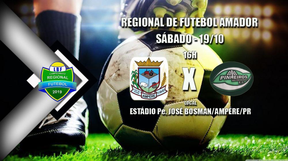 Pinheiros Beltronense vai a Ampére sábado (19) para tentar subir na tabela do Regional de Futebol LBF