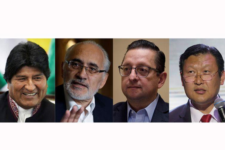 Candidatos à presidência da Bolívia - Reuters/Direitos Reservados