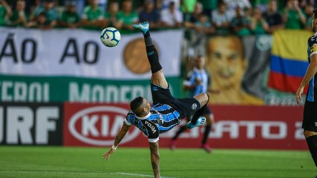 Luciano marcou o único gol da partida (Foto: Lucas Uebel/Grêmio/Divulgação)