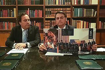 Live semanal do presidente Jair Bolsonaro - Reprodução/Facebook
