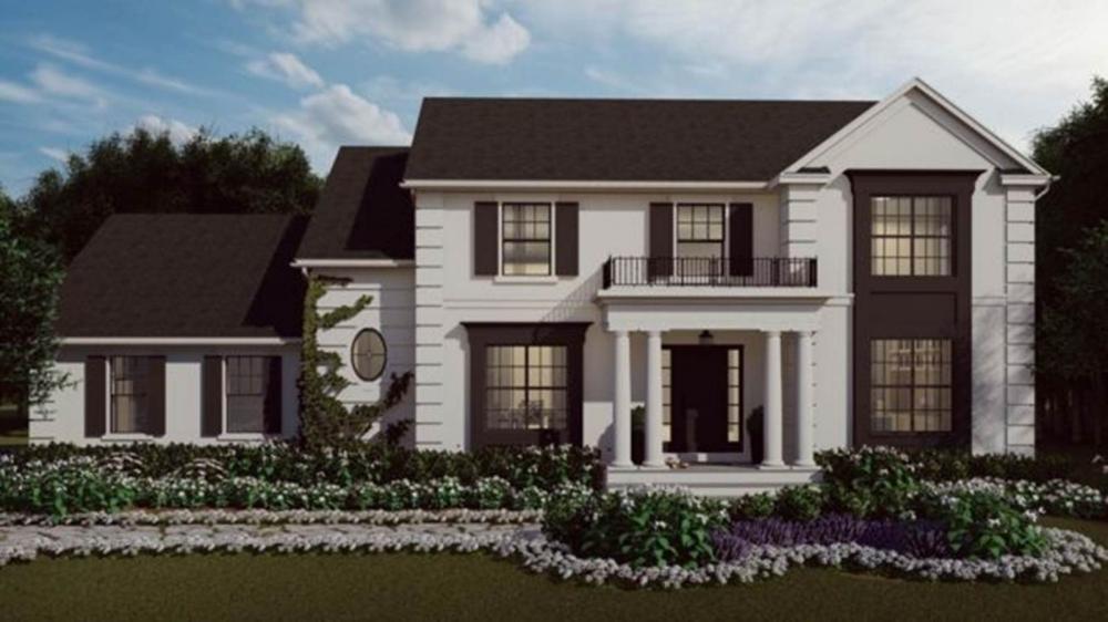 Uma representação da aparência da casa pronta - fica localizada em Nova Jersey, a cerca de uma hora ao sul de Nova York — Foto: Divulgação/BBC
