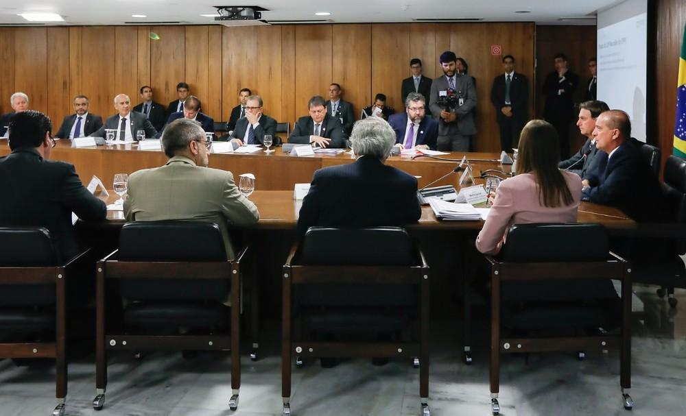 Reunião do Conselho do Programa de Parcerias de Investimentos, no Palácio do Planalto, nesta terça (19) — Foto: Carolina Antunes/PR
