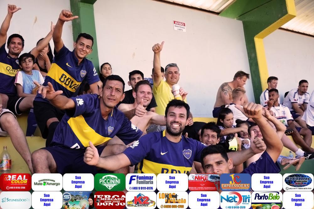 Torcida e atletas do Boca Juniors/Foto:Marcos Prudente