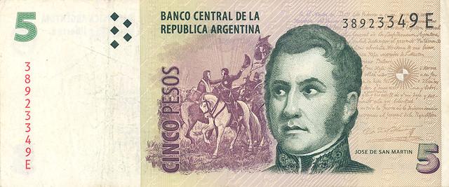 Nota de cinco pesos/Foto:Divulgação Internet