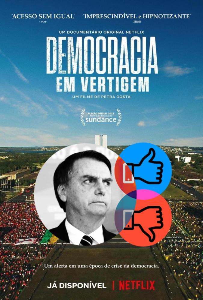 Capa do filme Democracia em Vertigem/Foto:Reprodução Internet