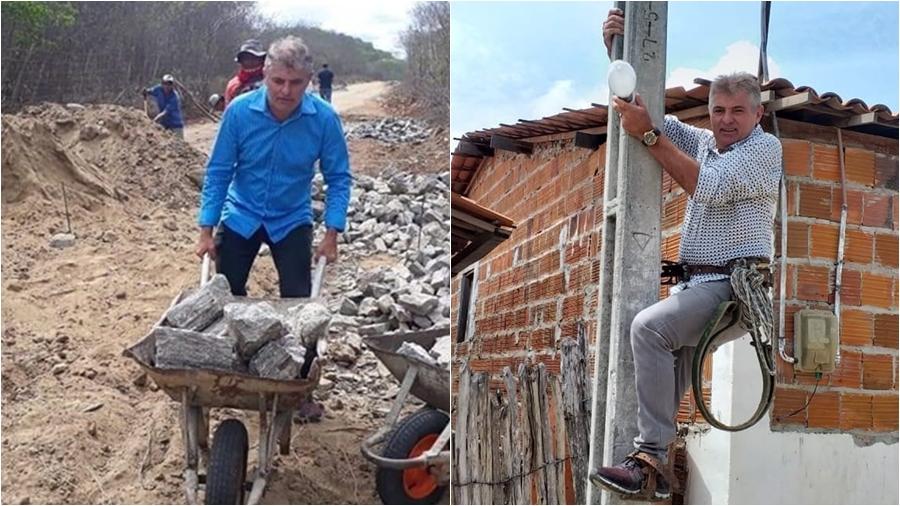 Marcondes Jucá, em poses para fotos/Foto: A Voz de Santa Quitéria: