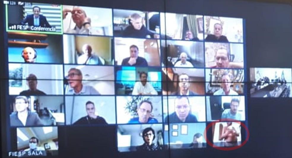 Em vídeo conferência com Bolsonaro, empresário aparece