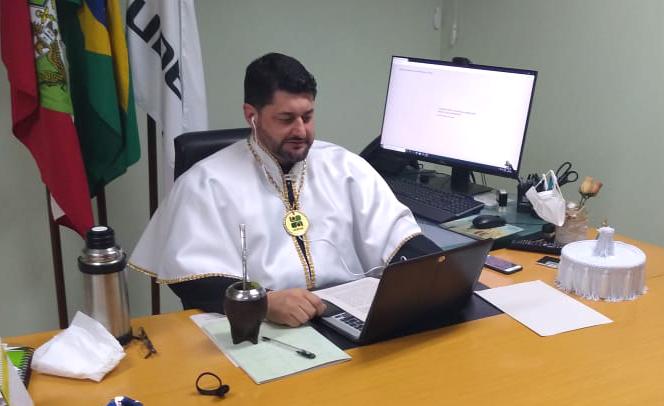 Reitor, Dilmar Baretta, presidiu cerimônias virtuais, autorizadas em caráter excepcional - Foto: Divulgação
