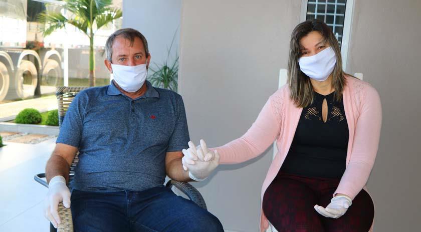Palma Sola - Caminhoneiro vence o Coronavírus e já pode desfrutar da companhia de seus familiares