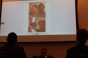 Reprodução de imagem de videochamada do empresário Samuel Rodovalho com a participação de Amandio Junior, atual chefe da Casa Civil FOTO: Solon Soares/Agência AL
