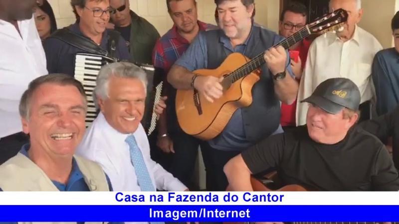 Bolsonaro com puro romantismo em encontro com Amado Batista
