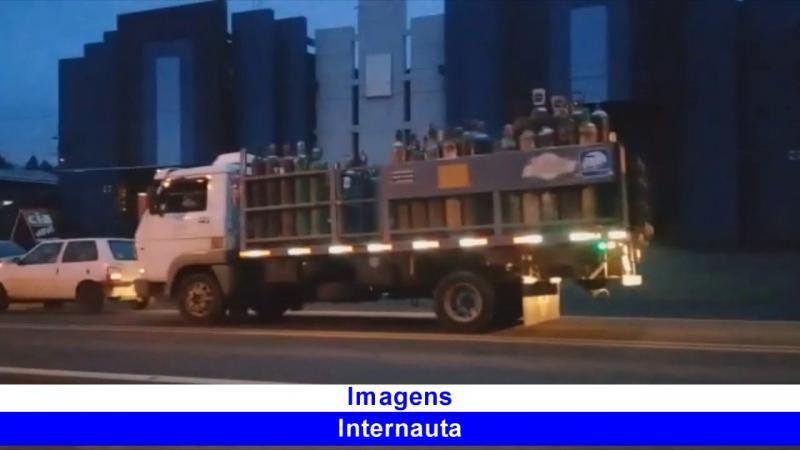 Congestionamento na Serra do BNH em Barracão
