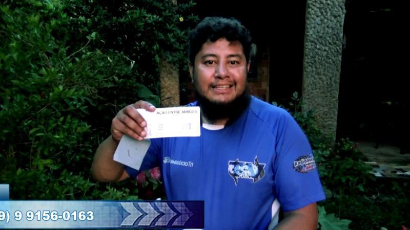 Rifa beneficente ao repórter Marcos Prudente, para compra de um transporte para trabalho