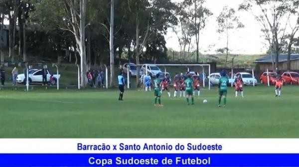 gol de Barracão 1 x 0 Santo Antonio do Sudoeste Copa Sudoeste de Futebol