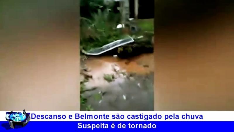 Suspeita de tornado no Oeste Catarinense (Vídeo)